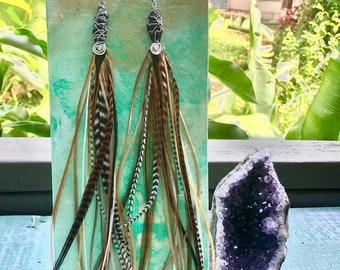 Natural and Free Feather Earrings