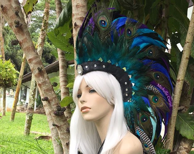 "Feather Mohawk Headdress  - ""Jasmine"""
