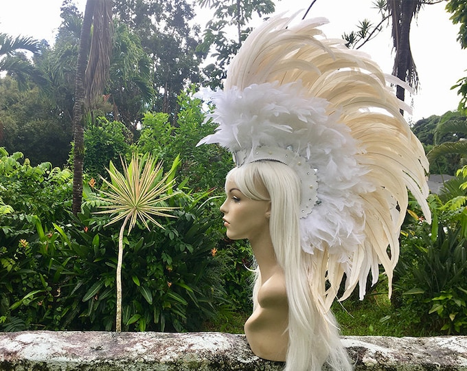 Healani - Made to order Customizable Feather Mohawk / Headdress