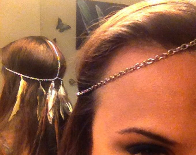 Customizable Feather Head Chain / Headdress