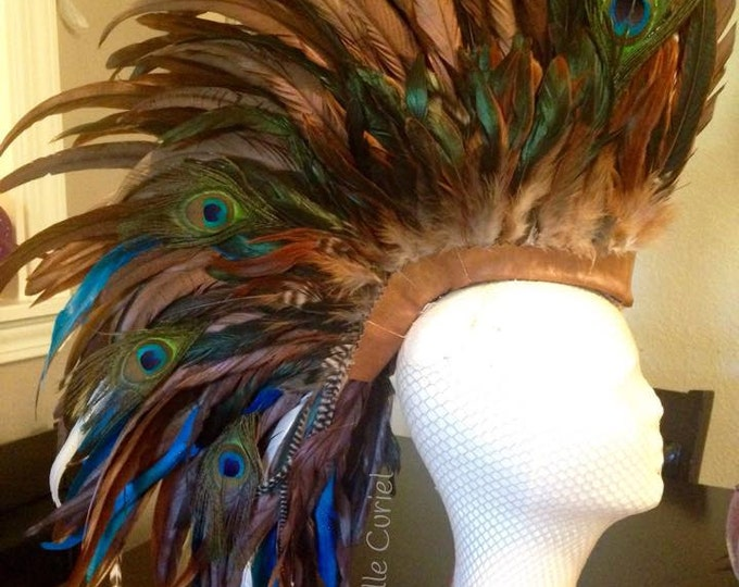 "Customizable Feather Mohawk / Headdress - ""Jocelyn"""