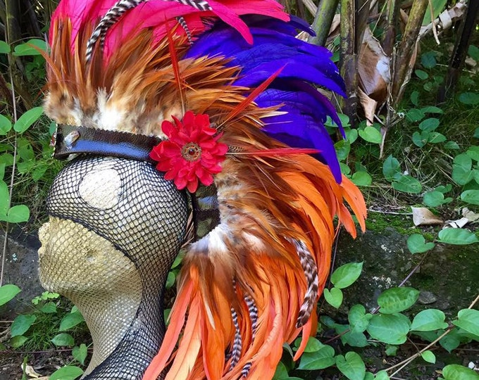 Miss Scarlett - Customizable Feather Mohawk / Headdress