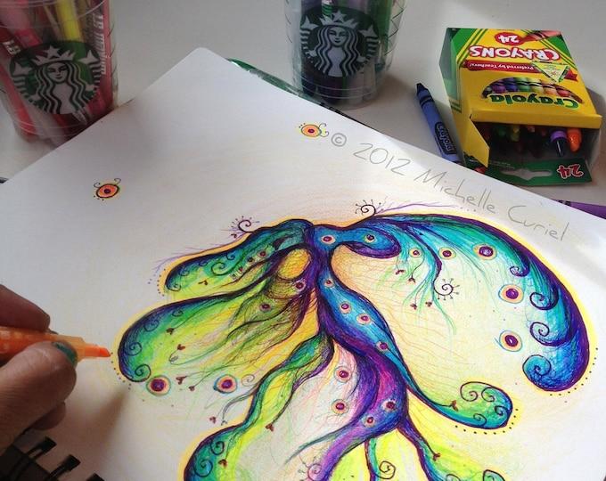 Infinite Sea - 8 x10 Original art (unframed in a 11x14 matt)