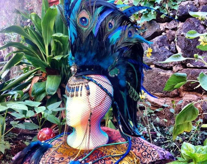 "Customizable Feather Mohawk / Headdress - ""Isis"""