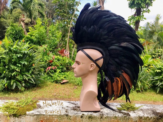 Made to order: Customizable Feather Mohawk / Headdress
