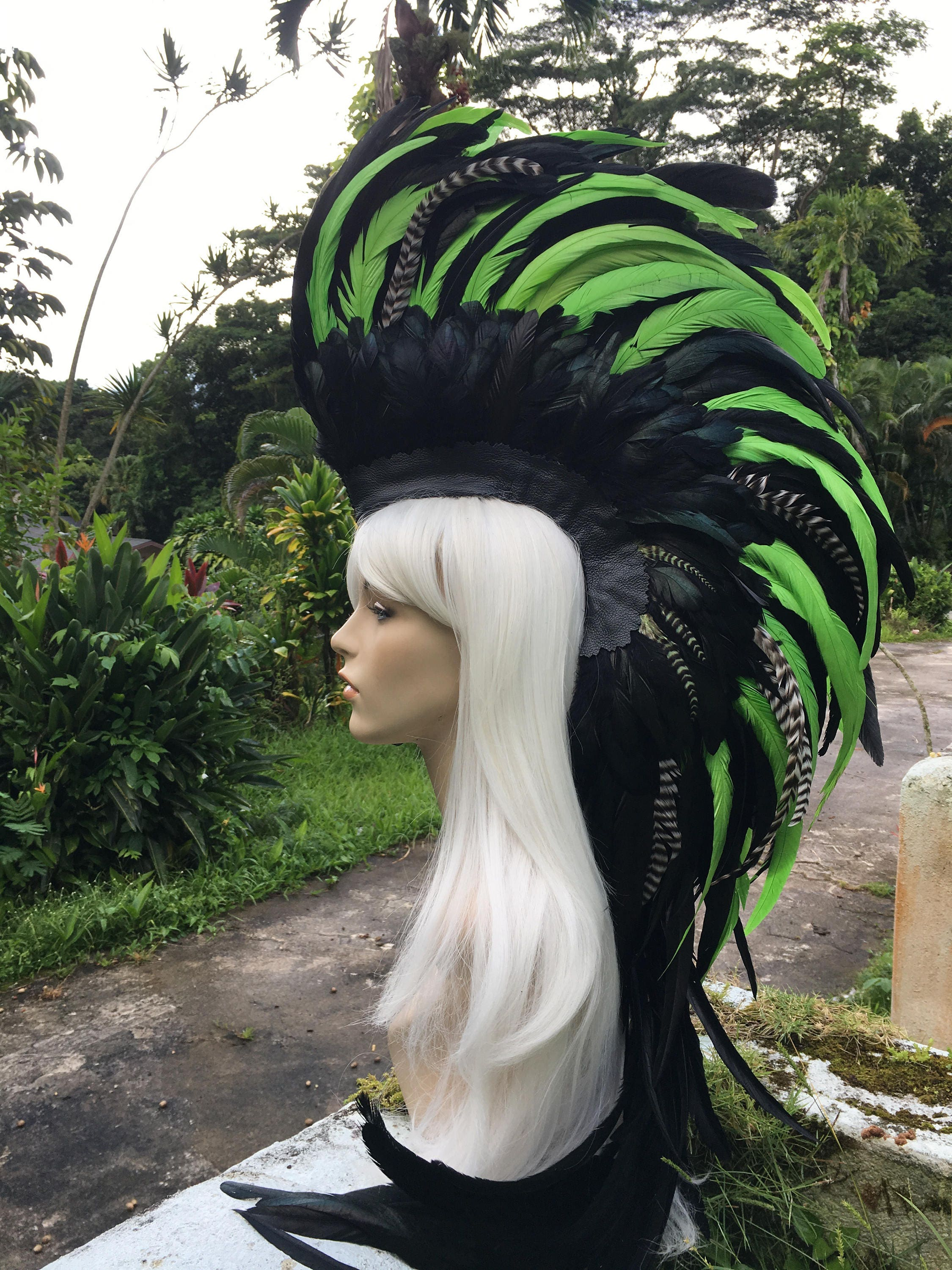 7a1aa97e192c7 Made to order: Customizable Feather Mohawk / Headdress; festivals ...