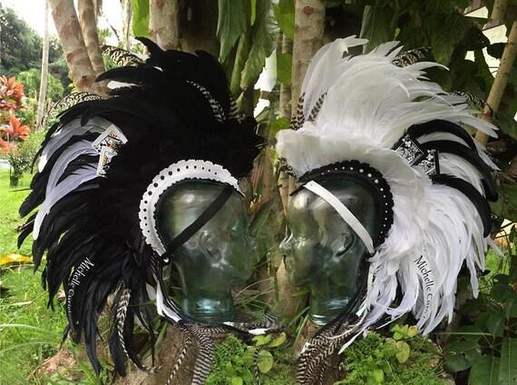 "Feather Mohawk Headdress  - ""The magician"""