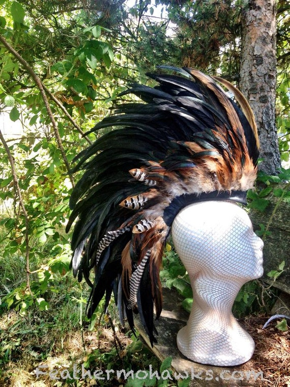 "Customizable Feather Mohawk / Headdress - ""Aremana"""