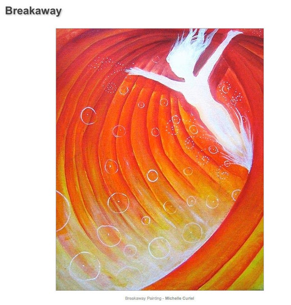 Breakaway - Original Acrylic Painting - 18 x 14