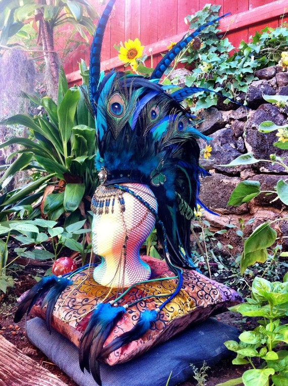 "Customizable Feather Mohawk / Headdress - ""Isis"""