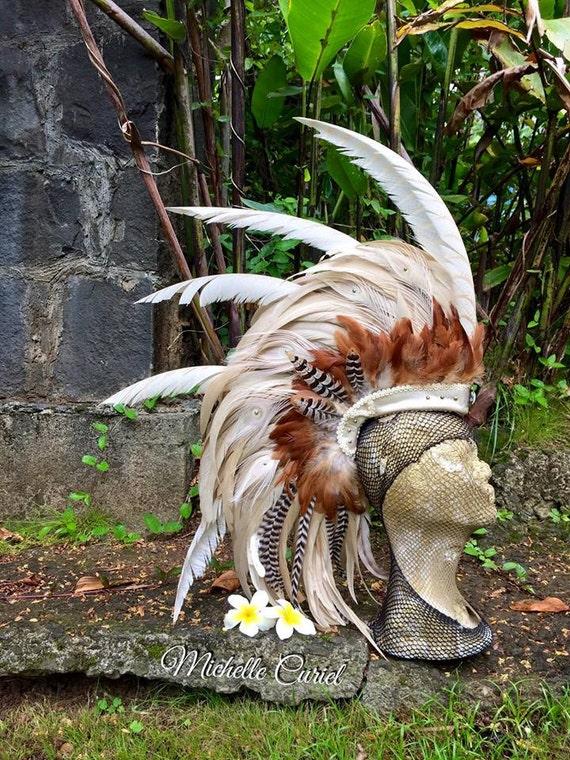 Ka'iulani  - Customizable Feather Mohawk / Headdress