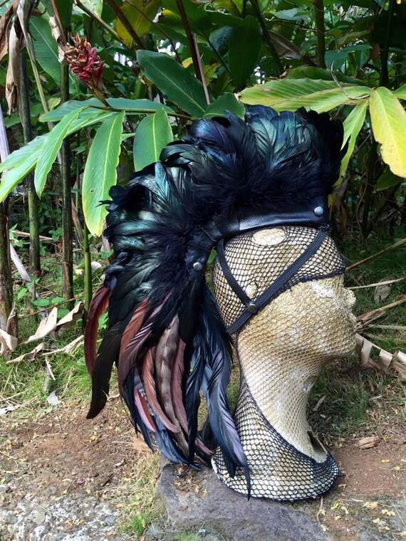 Wear with no hair  - Customizable Feather Mohawk / Headdress