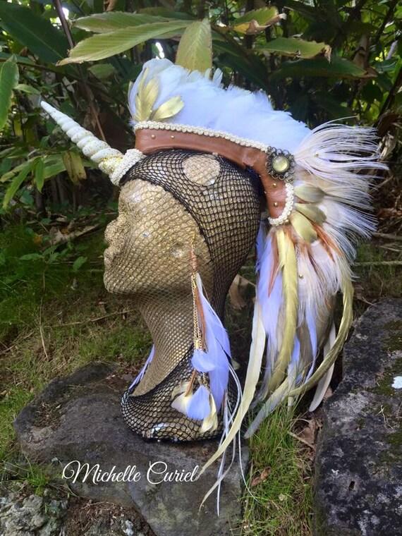 Shakti  - Customizable Unicorn Feather Mohawk / Headdress