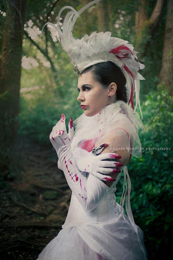 "Customizable Feather Mohawk / Headdress - ""The Vampire Queen"""