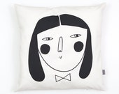 Cushion Cover by Depeapa, organic cotton pillow case, decorative cushion, woman