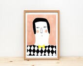 Illustration, depeapa, home decor, portrait, print, wall decor - Ramón -