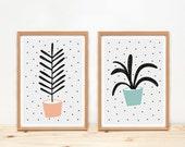 Illustrations, Depeapa, botanical prints, plants prints, cactus illustration, home decor, - PLANTS -