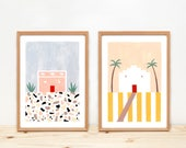 Illustrations, Depeapa, home decor, terrazzo, original prints, wall art, cactus, - PORTUGUESE HOUSES -