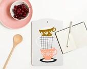 Cutting board by Depeapa, Cups Cutting board, illustration by Depeapa, cups lover, illustrated cutting board - CUPS -