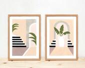 Illustrations, Depeapa, home decor, interior illustration, original prints, wall art, plants, - INTERIORS -