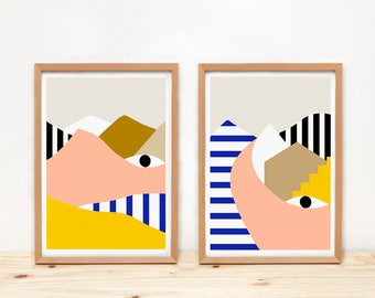 EYES Prints by Depeapa - A4 prints, illustrations, wall art, home decor, póster, mountains, city