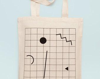GRID - Screen printed canvas fair trade eco-tote bag