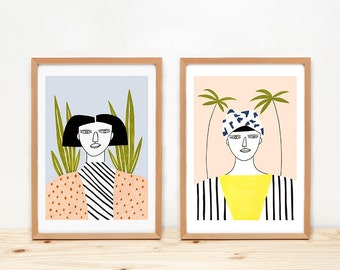 Prints by Depeapa - Women - illustrations - 8 x 11.5 - A4 -