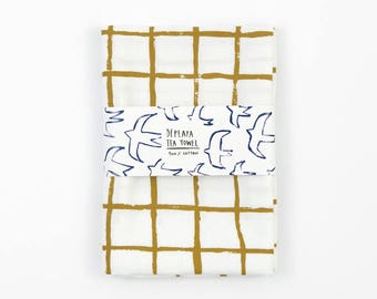 Tea Towel by Depeapa, Grid