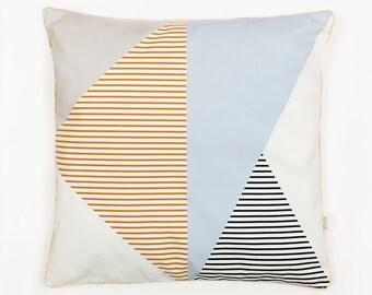 ALMAZUELA AZUL CUSHION - Cushion Cover by Depeapa, organic cotton pillow case, decorative cushion, Geometric Cushion, home decor, Depeapa