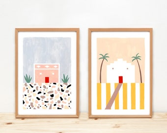 Houses Set of two giclee prints, Terrazzo, Illustrations - PORTUGUESE HOUSES -