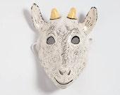 Paper mache kid-goat mask