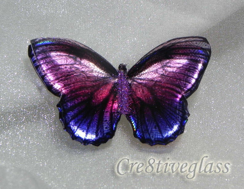 Green and Purple Iridescent resin holographic butterfly embellishment for art craft,wedding bouquet,sizes 5cm to 20cm,Custom sizes available