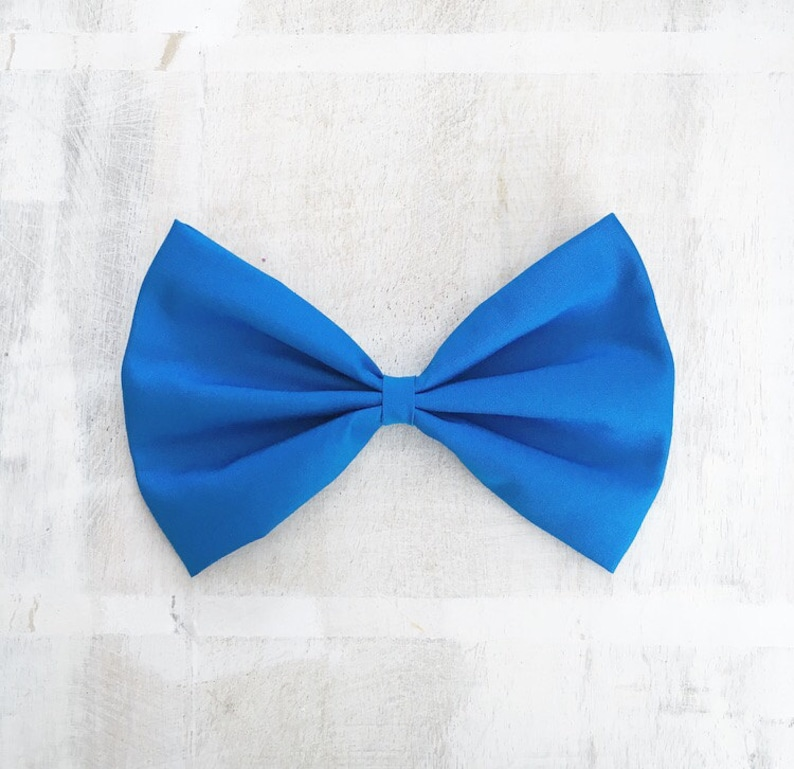Royal blue large hair bow Pin up Nautical Ariel Little Mermaid image 0
