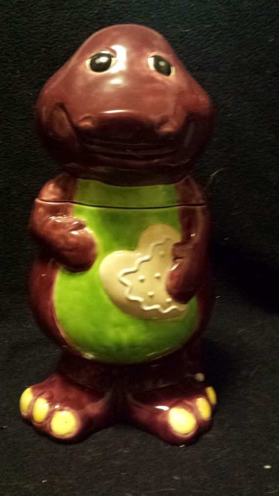Darling Barney Cookie Jar Dinosaur Cookie Jar Cartoon Etsy