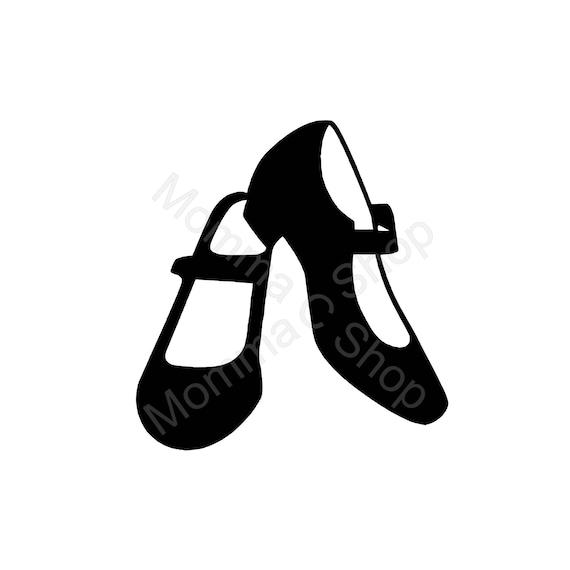 Dance Shoes Svg And Jpeg Instant Digital Download One Color Etsy