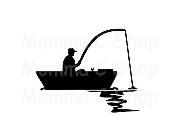 Boat Fishing Svg And Jpeg Fisherman Instant Digital Download Etsy