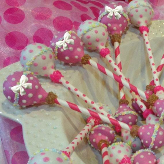 Baby Rattles Cake Pops Baby Shower Favors Newborn Cake Pops Etsy