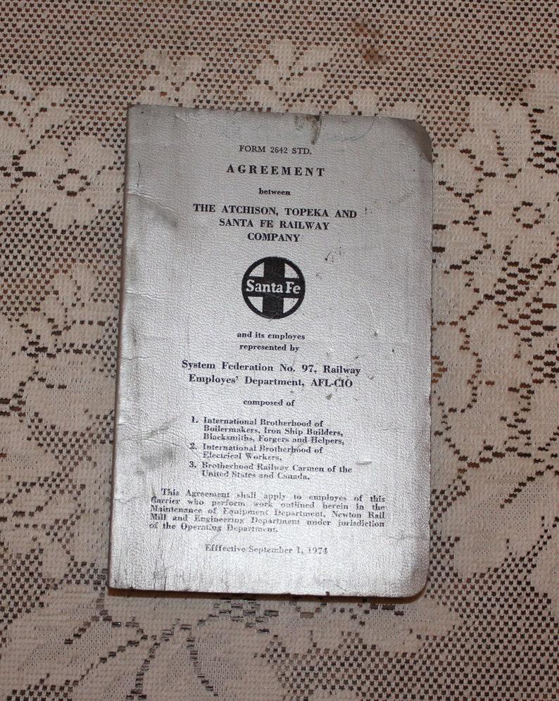Vintage 1953 Grand International Brotherhood of Locomotive Engineers Constitution