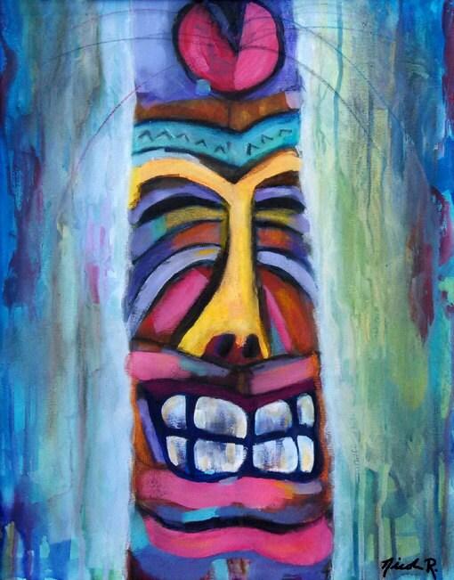 Studio clearance sale, art sale, Tiki art, totem, beach art, tiki ...