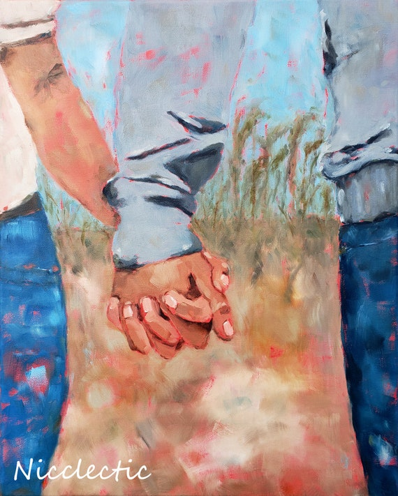Holding Hands, Couple in Love, Together clasped fingers, Romantic Art, Man and Wife, Nicclectic, Holding hands at the beach, North Carolina