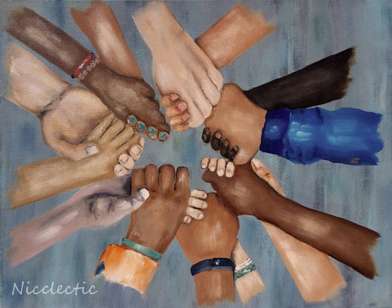 Children in Unity, racial equality kids holding hands, Martin Luther King, love, friendship, Kids of all races, together group holding hands