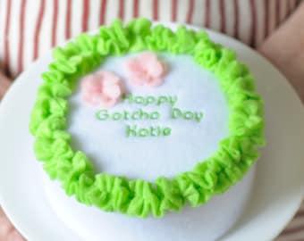 Happy Gotcha Day Mini Cake Organic Catnip Cat Toy