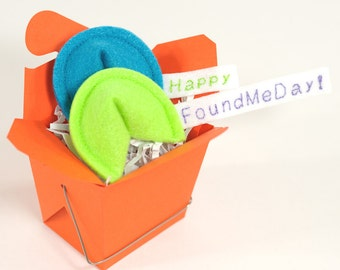 Happy Found Me Day! Fortune Cookie Set Organic Catnip Cat Toy