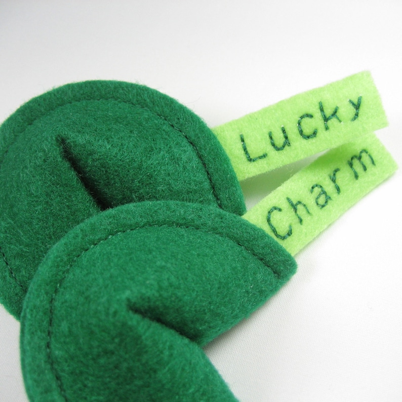 Lucky Charm Fortune Cookies Organic Catnip Cat Toy image 0