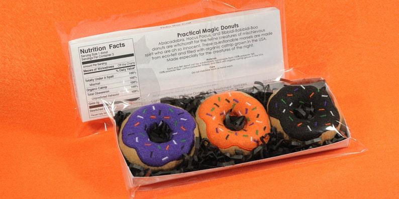 Practical Magic Donuts Gift Set Organic Catnip Cat Toy image 0