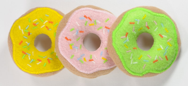 Frosted Donuts with Sprinkles Organic Catnip Cat Toy image 0
