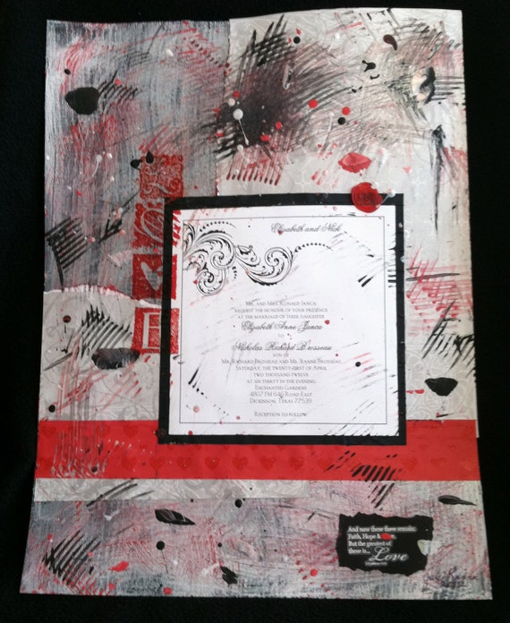 custom wedding invitation collageimages just sample images etsy