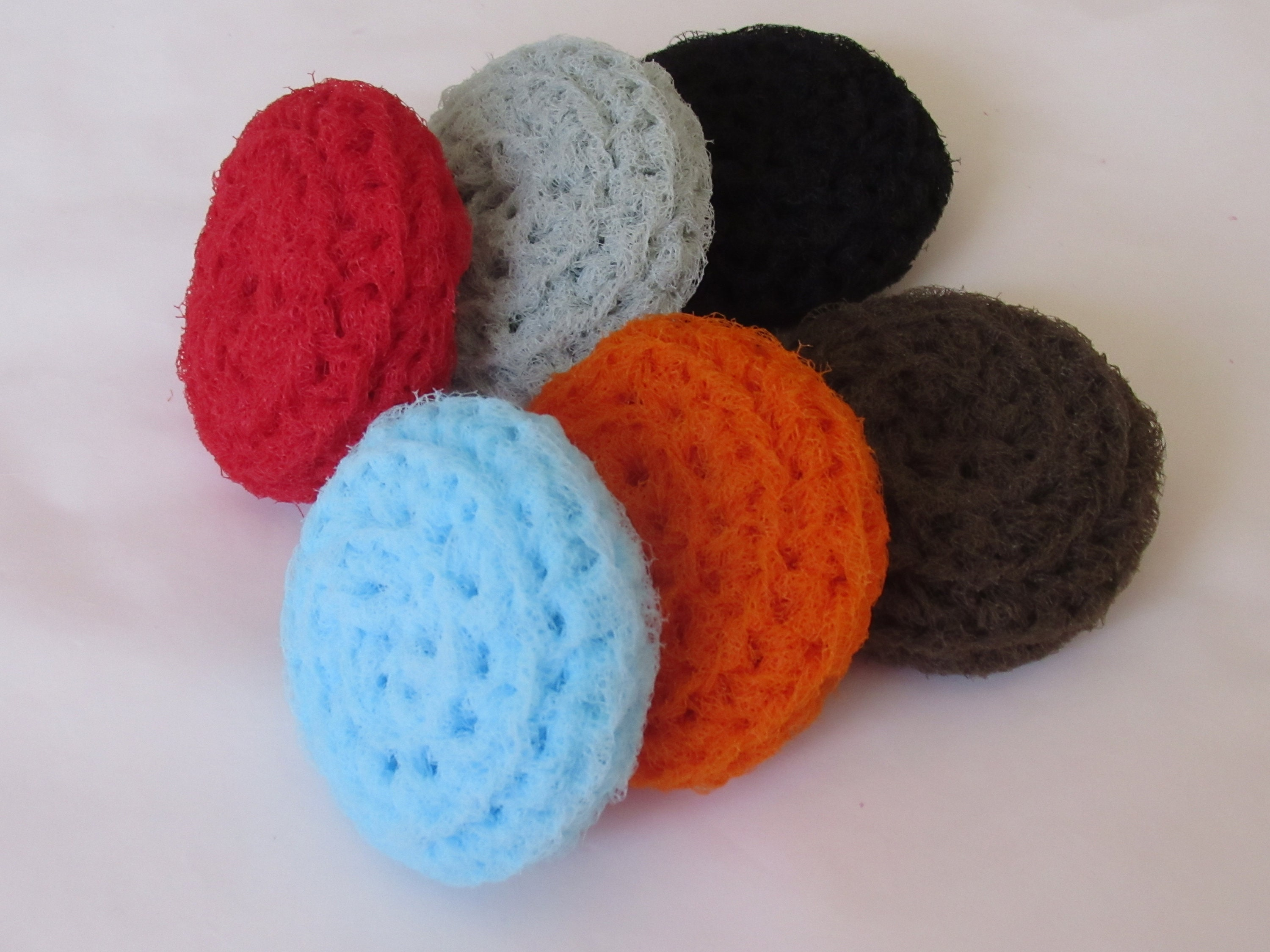 NYLON NET POT SCRUBBIES 6 Brown