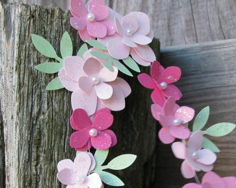 Paper Flower Garland, Petite Floral Chain, Custom Color Paper Flowers, Paper Posies, Daisy Chain, Charming and Delicate Paper Flowers