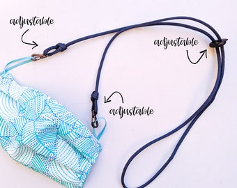 Adjustable Lanyard and Ear-Saver for Masks | Made-To-Order